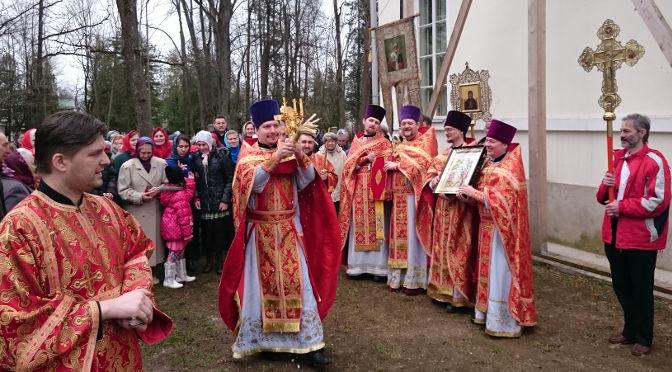 Соборное Пасхальное богослужение вРезекне