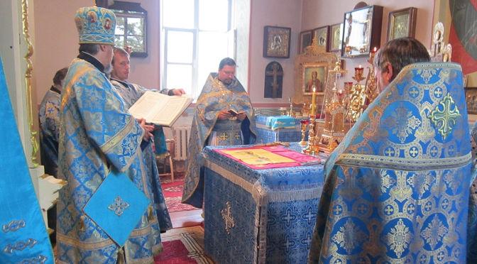 Епископ Александр совершил литургию в день 170-летия Лудзенского Успенского собора