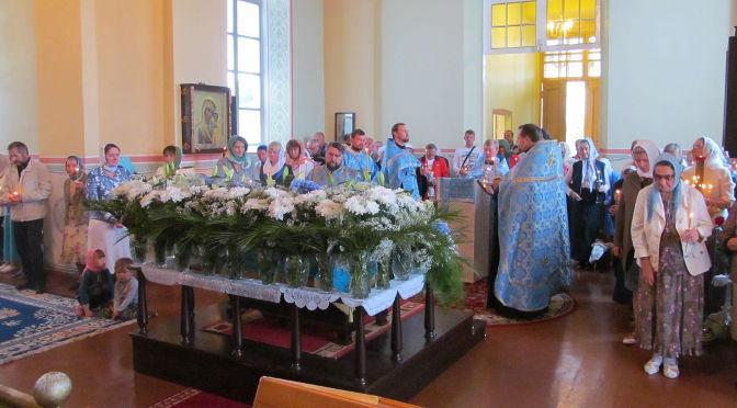В Лудзенском Успенском храме совершён чин погребения Пресвятой Богородицы соборным служением духовенства Резекненского благочиния