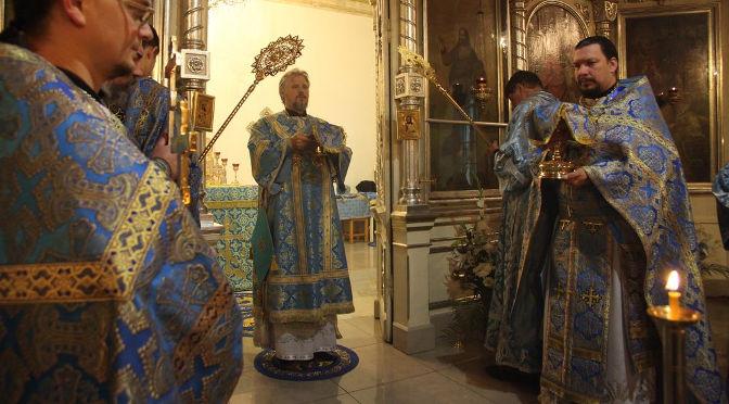 Архиерейское богослужение в день престольного праздника Резекненского собора Рождества Пресвятой Богородицы