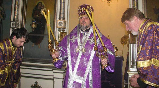 Епископ Александр совершил литургию Преждеосвященных Даров в Резекне
