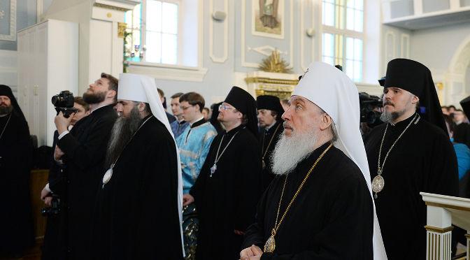 Епископ Александр прибыл в Санкт-Петербург на заседание Священного Синода РПЦ
