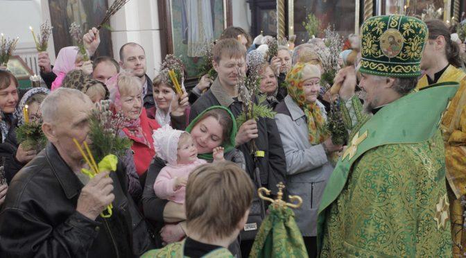 Архипастырское богослужение в Вербное воскресенье