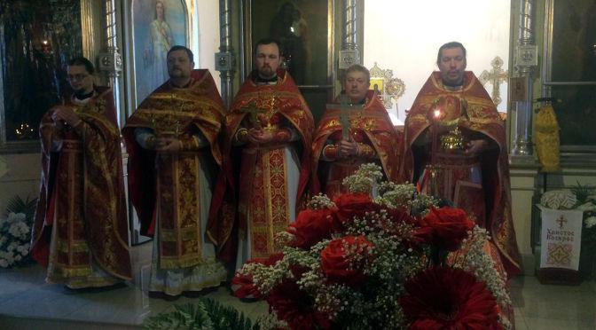 Соборное Пасхальное богослужение в Резекне