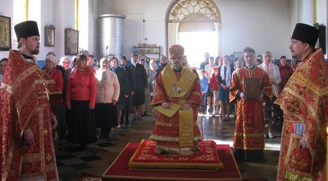 Архиерейское богослужение в Старой Слободе