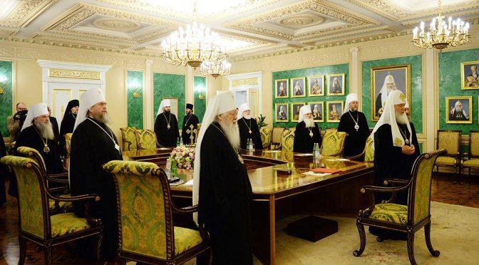 Епископ Александр принял участие в заседании Священного Синода