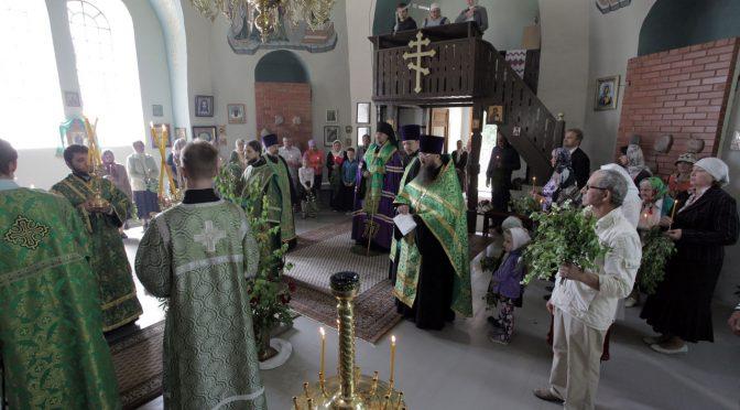 Праздничный молебен в Марциене