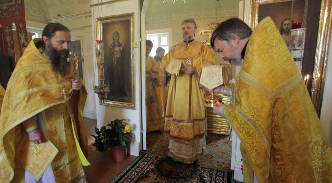 Божественная литургия в Шкельтово