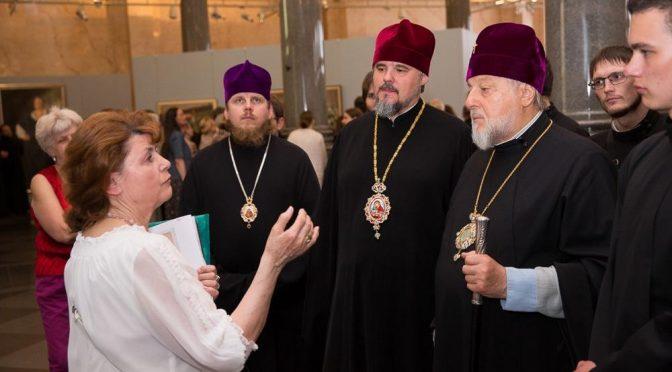 Латвийские Архипастыри посетили выставку Н.П.Богданова-Бельского в Риге