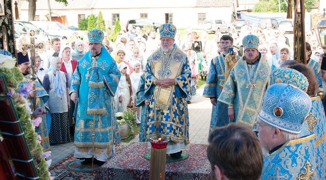 Литургия и диаконская хиротония в Екабпилсском монастыре