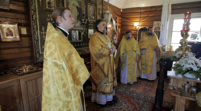 Божественная литургия в Петро-Павловском храме посёлка Данишевка