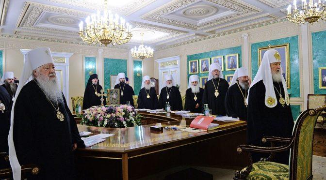 Епископ Александр принимает участие в заседании Священного Синода РПЦ