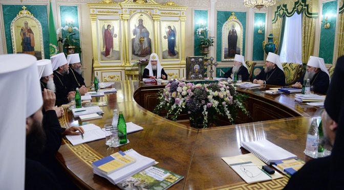 Состоялось очередное заседание Священного Синода РПЦ