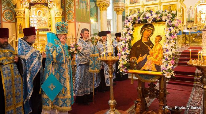 В Рижском кафедральном соборе совершены Акафист и Всенощное бдение в канун празднования Тихвинской иконы Пресвятой Богородицы