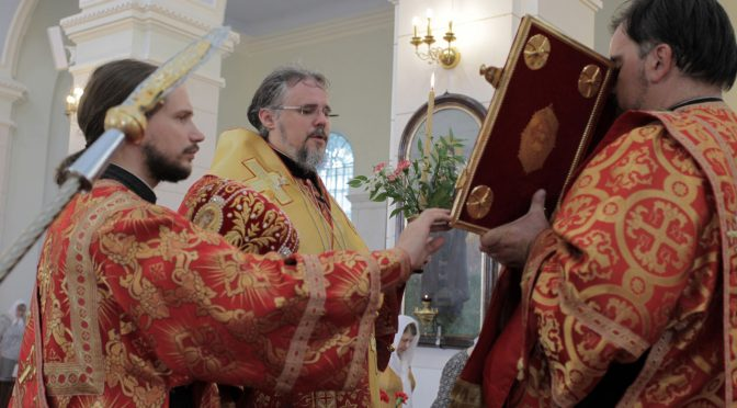 Всенощное бдение в канун храмового праздника Борисо-Глебского собора