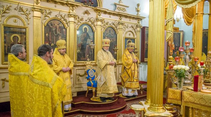 Божественная литургия в Благовещенском храме города Рига
