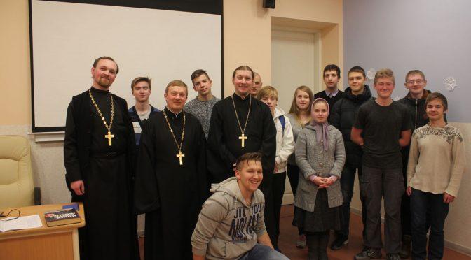 Епархиальная молодёжная воскресная школа отметила два месяца со дня открытия