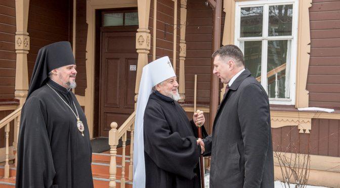 Президент Латвии нанёс визит Митрополиту Александру