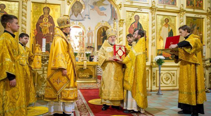 Божественная литургия в соборе Рождества Христова