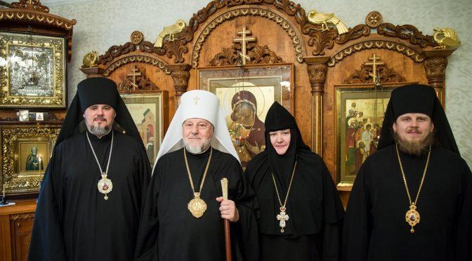 Латвийские архипастыри поздравили игумению Магдалину (Полын)