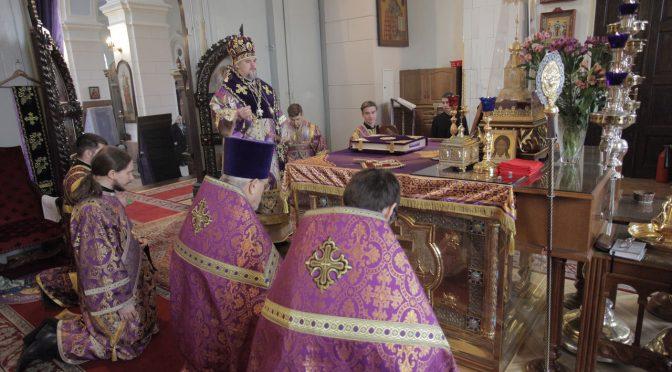 Литургия Преждеосвященных Даров в Борисо-Глебском соборе