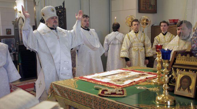 Литургия в Лазареву субботу в Борисо-Глебском соборе