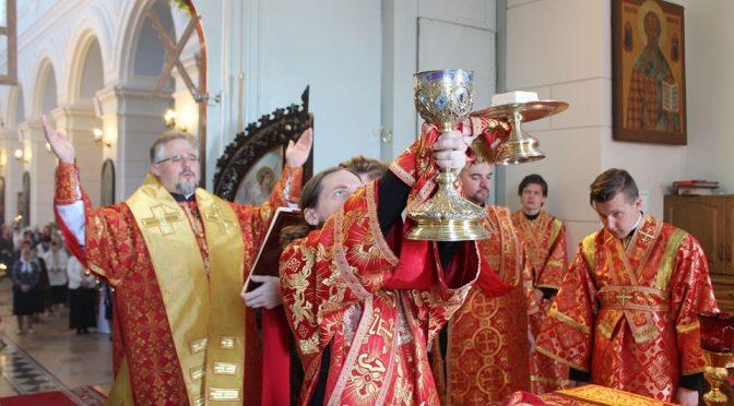 Литургия в неделю 4-ю по Пасхе в Борисо-Глебском соборе