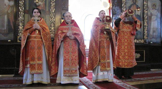 Литургия в кафедральном соборе Даугавпилса