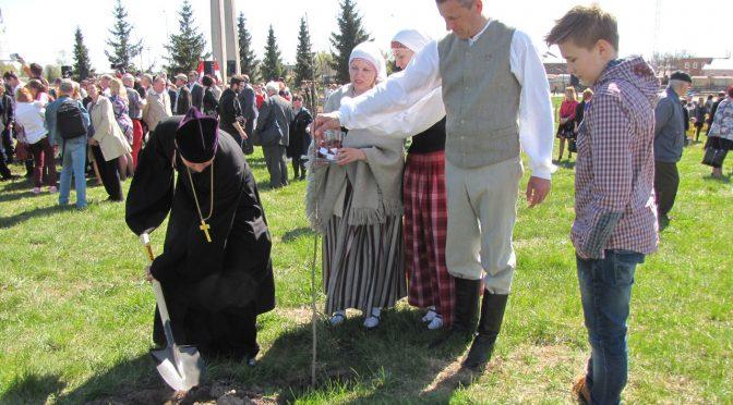 Церемония посадки 100 дубов в Даугавпилсе