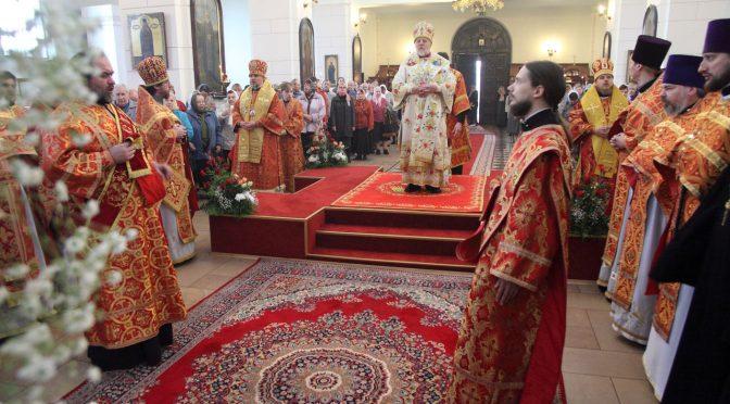 Латвийские архипастыри совершили Литургию в день храмового праздника Борисо-Глебского собора