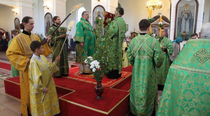 Всенощное бдение накануне Пятидесятницы в кафедральном Борисо-Глебском соборе