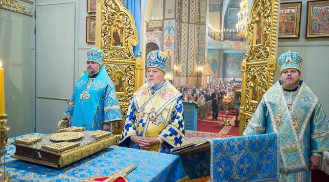 Божественная литургия в день празднования Тихвинской иконы Пресвятой Богородицы в Риге