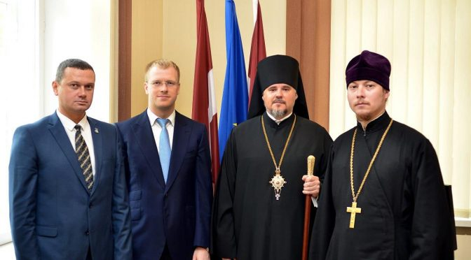 Епископ Александр нанёс визит новоизбранному мэру Даугавпилса