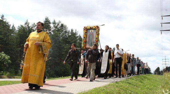 Крестный ход  в малиновскую Ильинскую церковь