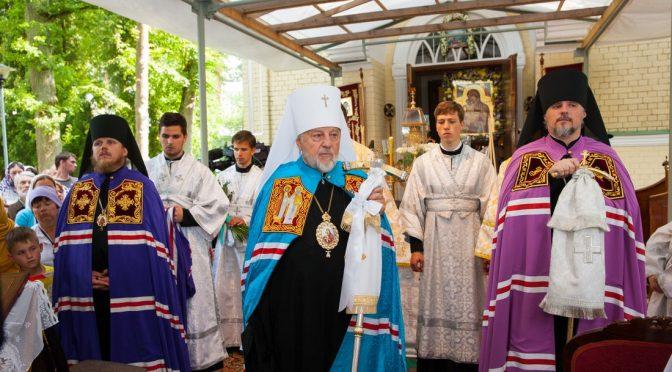 В Спасо-Преображенской пустыни молитвенно отметили престольный праздник и 11-ю годовщину архиерейской хиротонии Епископа Александра