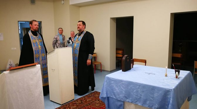Молебное пение в капелле Лудзенского медицинского центра