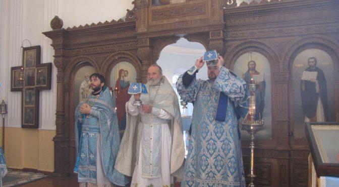 Соборное богослужение в Успенском храме села Айзкалне