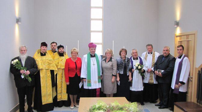 Освящена кладбищенская часовня в Калупе