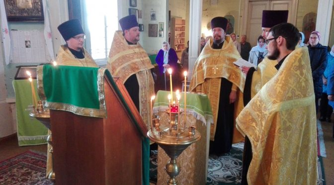 Молебен в Голышевском храме Святой Троицы в Дни Карсавского края