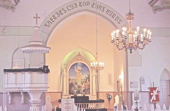 Епископ Александр посетил празднование 10-летия Даугавпилсского диоцеза ЛЕЛЦ в городе Балви