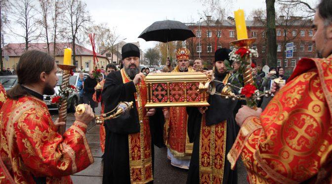 Даугавпилсско-Резекненская епархия встретила ковчег со святыми мощами новомучеников и исповедников XX века