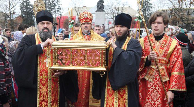Ковчег со святыми мощами новомучеников и исповедников прибыл в Резекне
