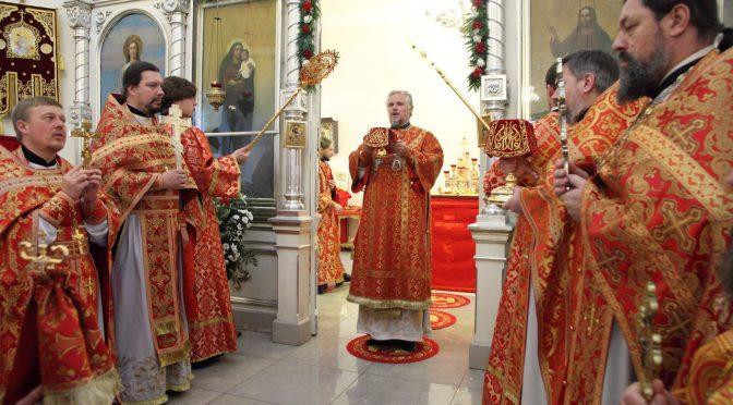 Литургия в Резекненском соборе Рождества Пресвятой Богородицы