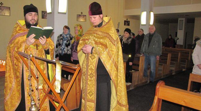 Совершено богослужение  в Плявиньском Петро-Павловском приходе
