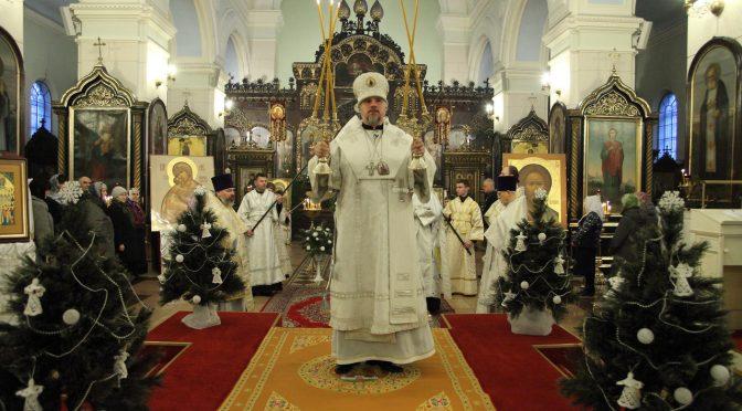 Богослужение Навечерия Рождества в Борисо-Глебском соборе