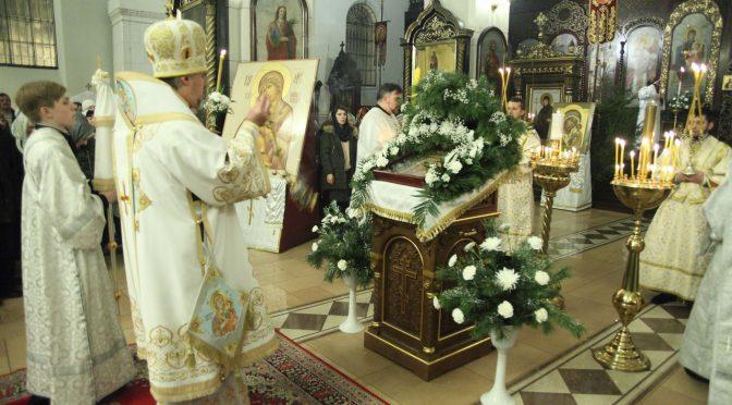 Всенощное бдение Рождества Христова в Борисо-Глебском соборе
