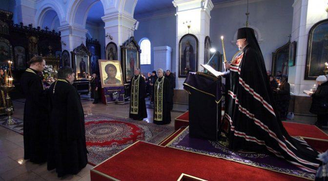 Великое повечерие с каноном Андрея Критского в Борисо-Глебском соборе