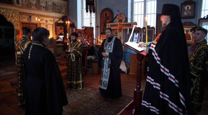 Чтение канона Андрея Критского в Успенском храме города Даугавпилс