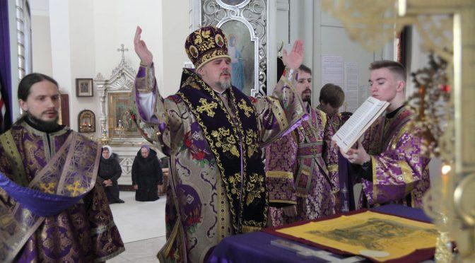 Литургия Преждеосвященных Даров и молебен вмч.Феодору Тирону в Резекне