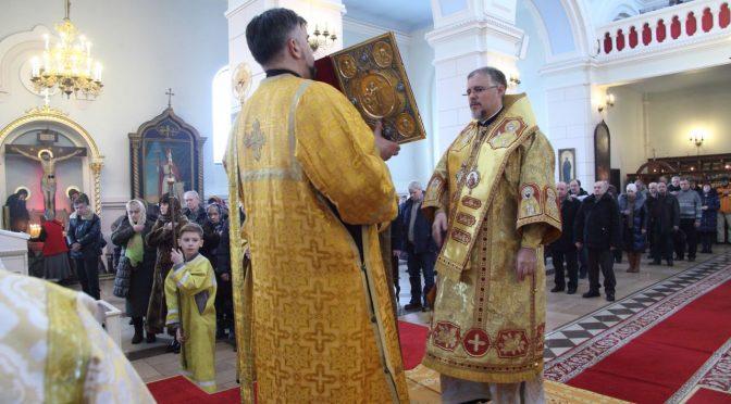 Богослужение в Неделю Торжества Православия в Борисо-Глебском соборе